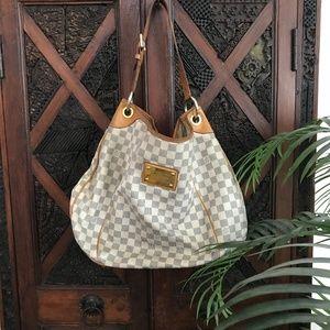 Louis Vuitton Damier Azur Galliera PM Hobo Bag